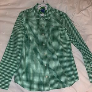 Vineyard Vines Green Checkered Button Down